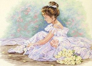 """Схема - 35245 -  """"Sweet Ballerina """", фото 1 - I.B.STUDIO-вышивка бисером, канва с рисунком, схемы для вышивки крестиком."""