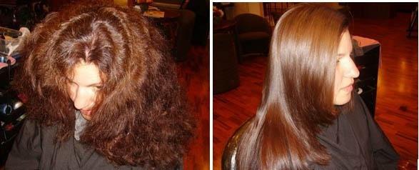 Выпрямление волос перово
