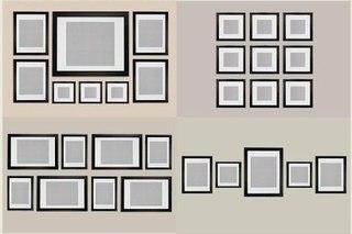 как лучше расположить рамки с фото на стене