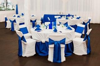 Свадьба в синем цвете тема синички