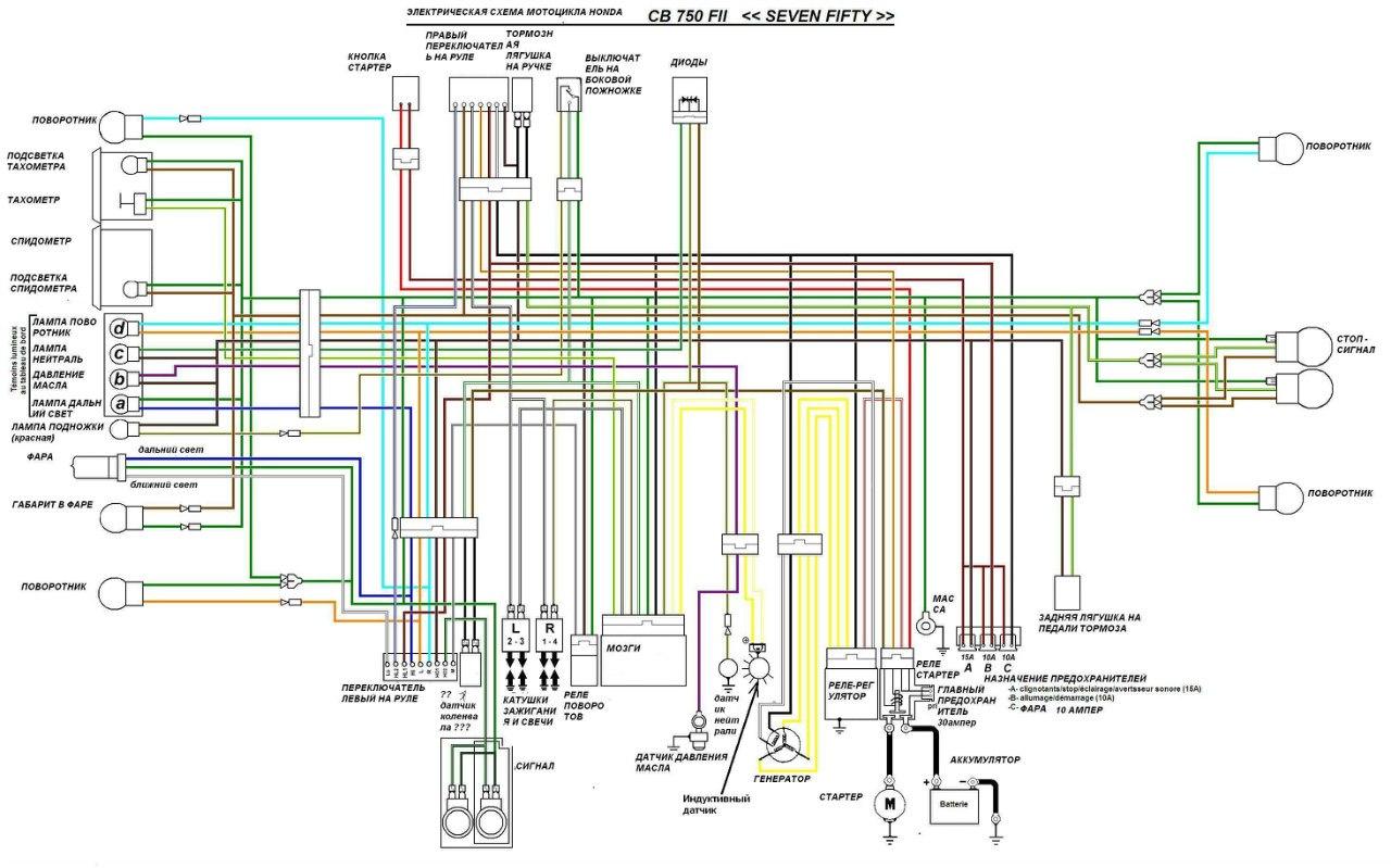 Схема дополнительных фар мопеда sabur
