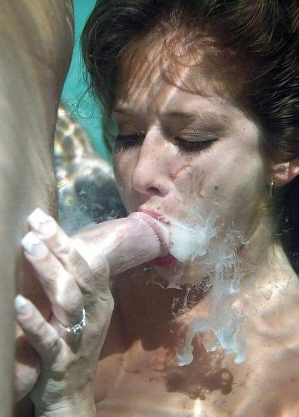 Море спермы в рот фото
