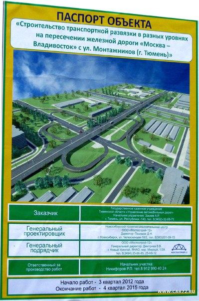 Строительство развязки по ул. Монтажников.  Путепровод соединит улицу Республики и Восточную часть города.