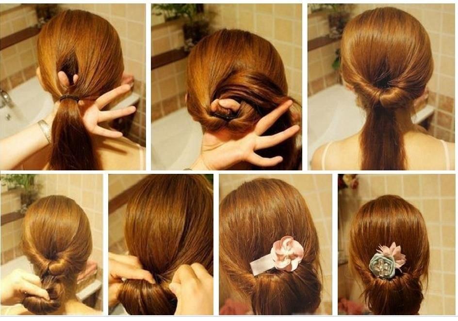 Фото несложных причесок на средние волосы