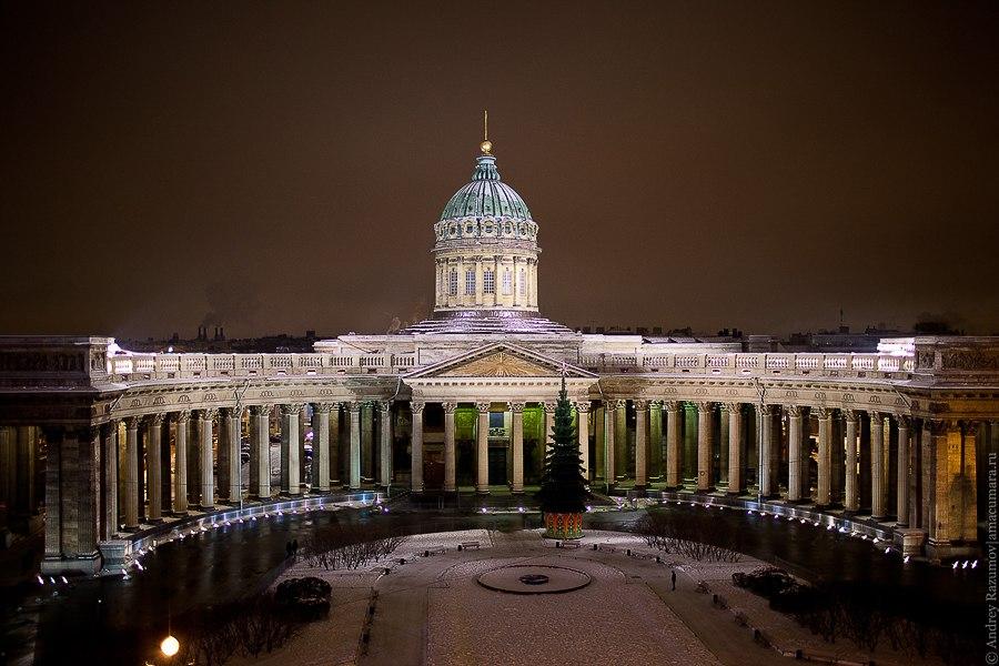 Ночной Петербург Казанский собор