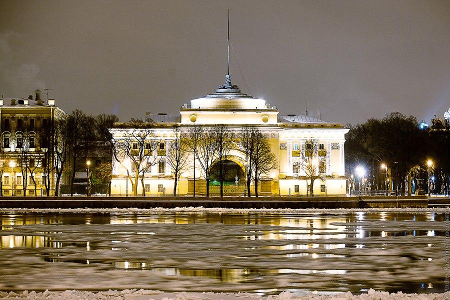 Ночной Петербург Адмиралтейство