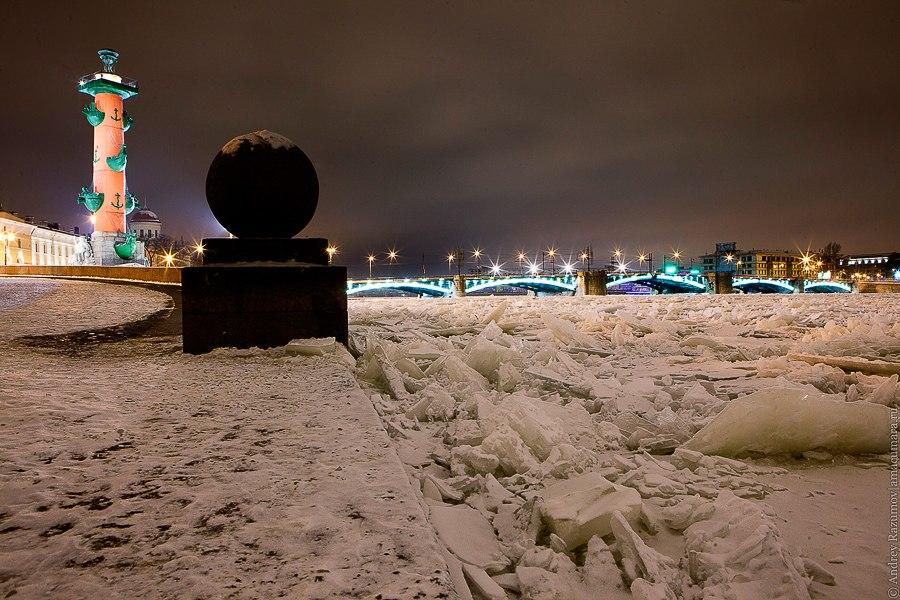 Ночной Петербург Васильевсикй остров