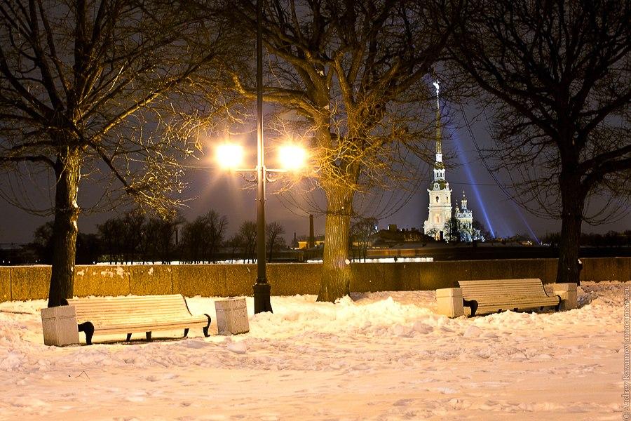 Ночной Петербург Васильевский остров