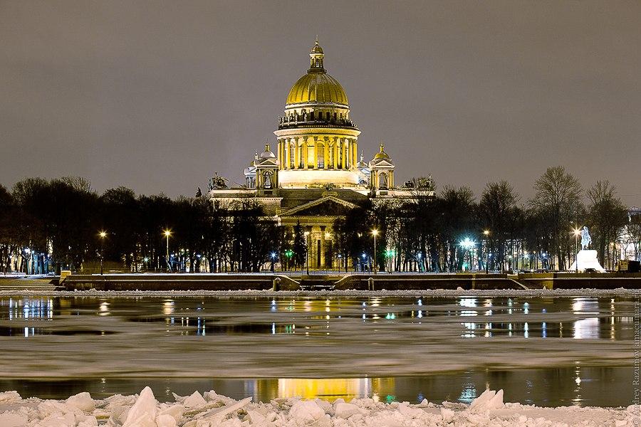 Ночной Петербург Исаакиевский собор