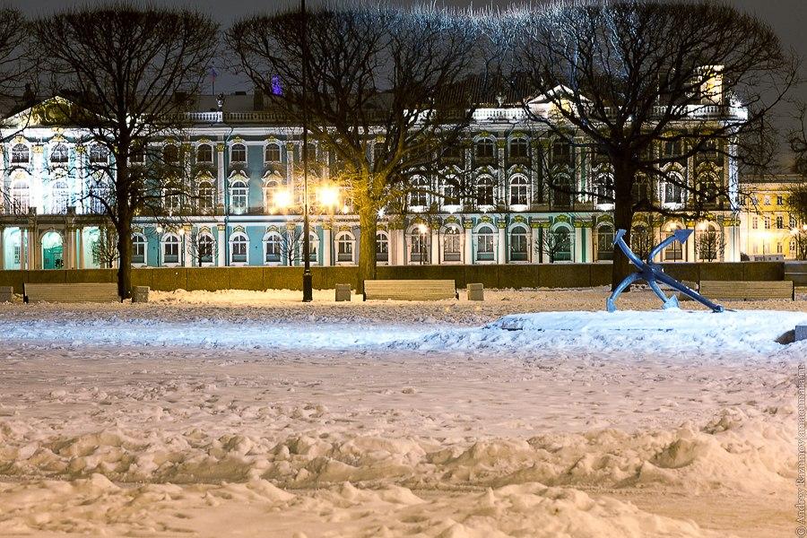 Ночной Петербург стрелка