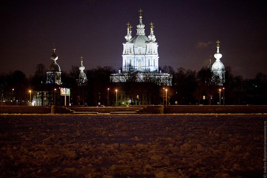 Ночной Петербург Смольный собор