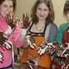 Мастер-класс Работа с шоколадом в домашних услов