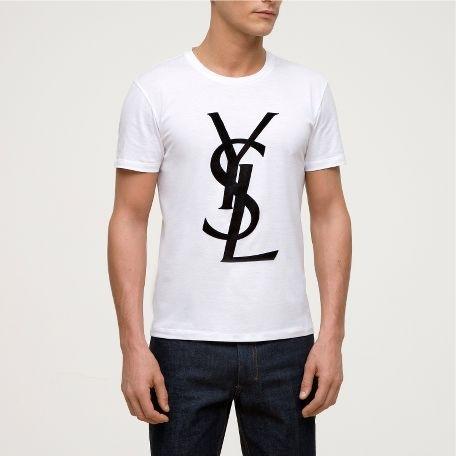 Men's short sleeve T-shirt Saint Laurent YSL 2011 new leisure Shopping.