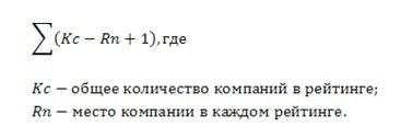 формула рейтинга