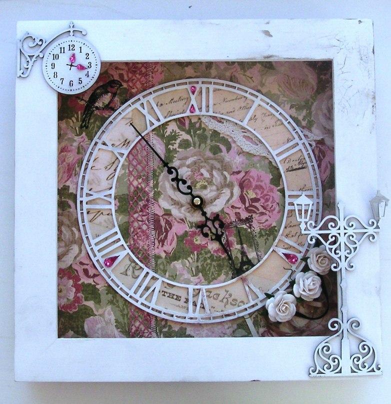 Часы в стиле прованс фото