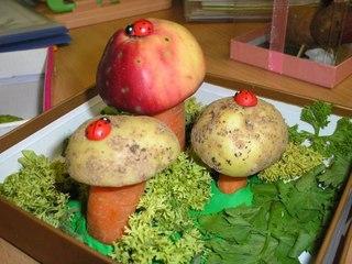 Все подделки: Поделки из овощей в детский сад - Для воспитателей детских садов.