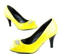 Жёлтые Туфли На Каблуке