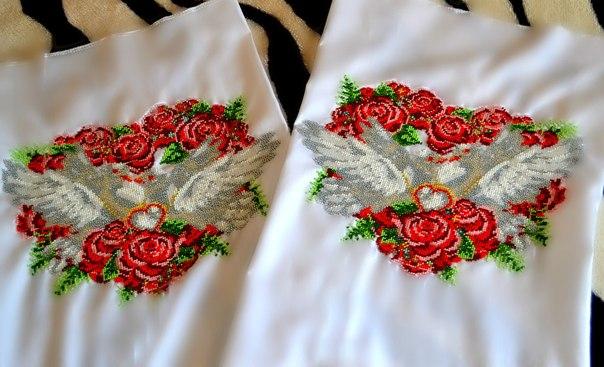 Бисер вышивка свадьба