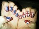 красивый короткий френч летние рисунки на ногтях флаг америки.
