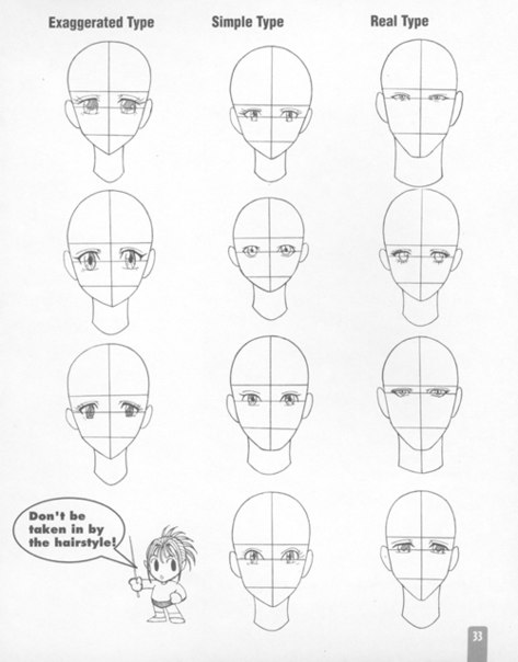 учимся рисовать аниме и не тьлько))). Учемся рисовать голову))) Не забывайте