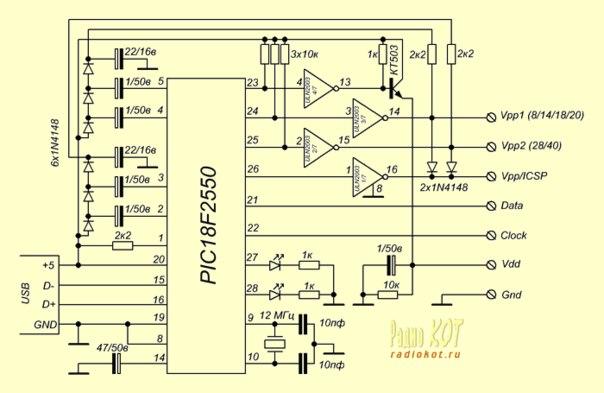 USB программатор I2C порта.