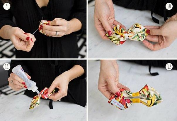 Как можно сделать бабочку на шею своими руками