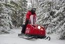 """БУРАН 4Т при стандартной конструктивной схеме  """"1 лыжа + 2 гусеницы """" имеет 4-тактный 2-цилиндровый карбюраторный..."""