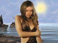 Костюм женский для фотошопа - Рассвет на море Разрешение: 3500х2625, 300...