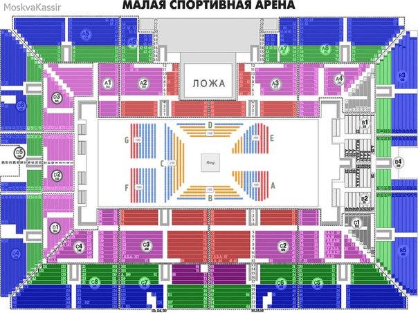 План арены