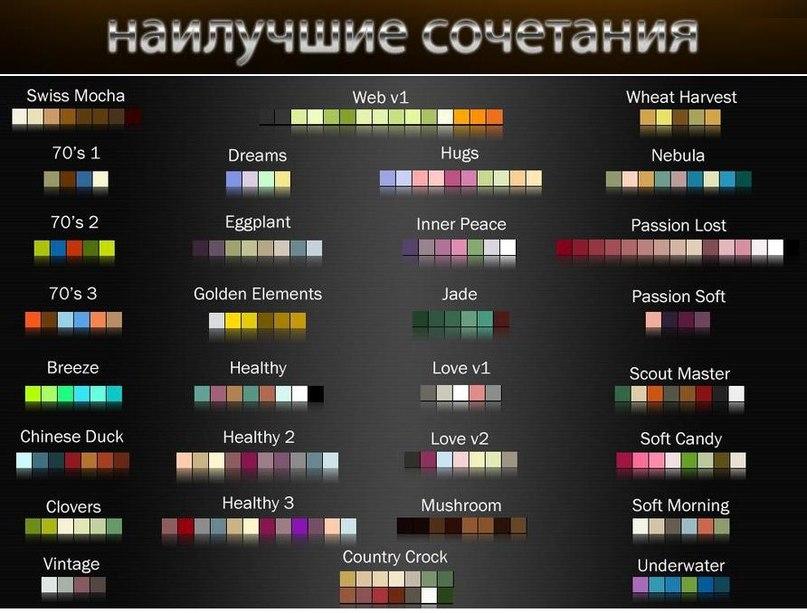 Правила цвета
