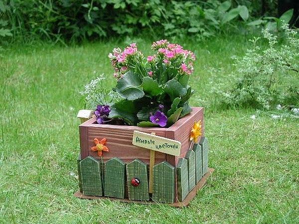 Ящики для цветов сделать своими руками