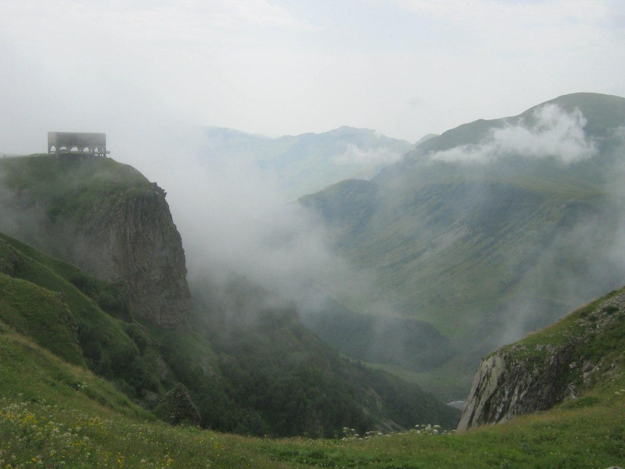 Вид с Крестового перевала