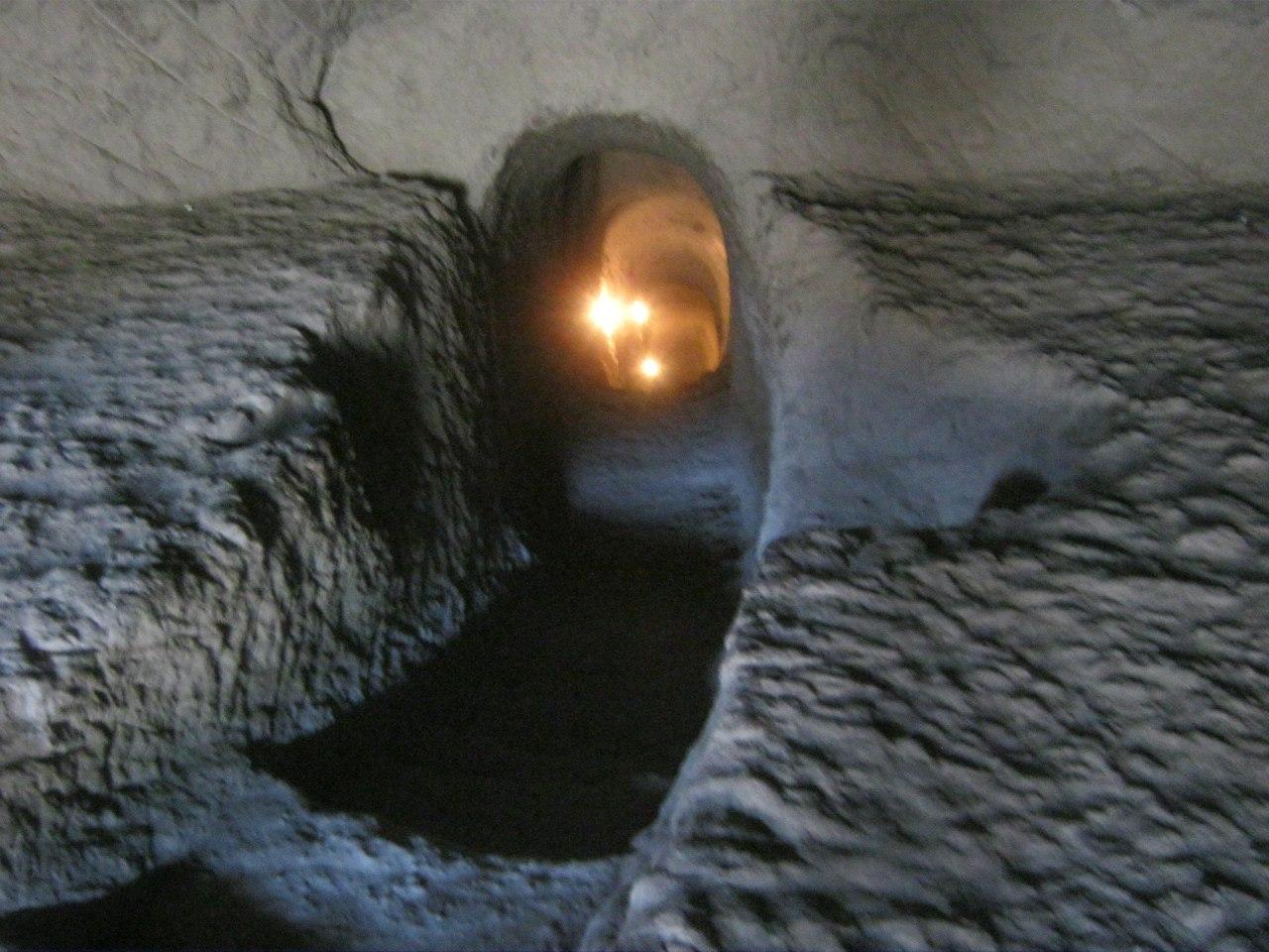 туннель в монастыре Вардзия