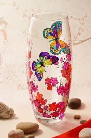 Витражная роспись ваз