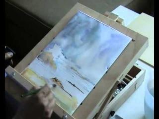Рисуем морской пейзаж акварелью #01