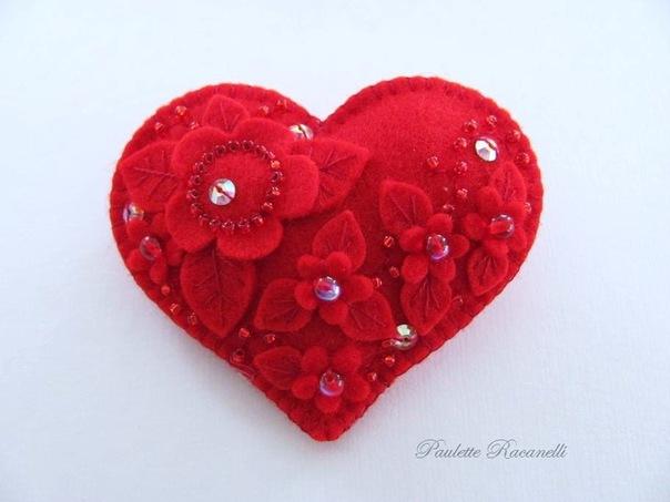 Сердечная валентинка, канзаши для начинающих идеи и мастер классы