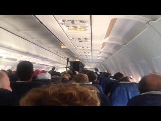 Посадка самолета в Праге - он-лайн с борта аэробуса