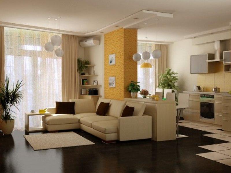 Дизайн гостиной кухни студии фото