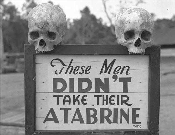 Реклама средства от малярии в Новой Гвинее. II Мировая Война