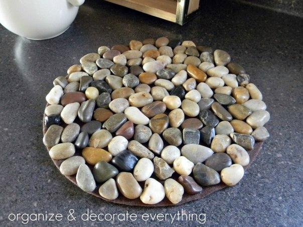 Подставки под горячее из камней своими руками