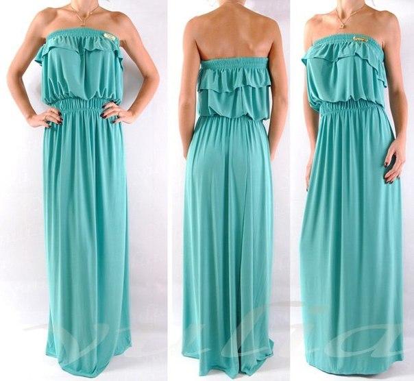 Длинное платье на резинке своими руками