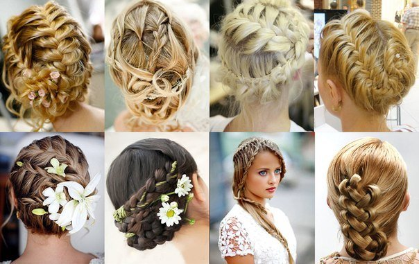 как сделать свадебную прическу на средние волосы