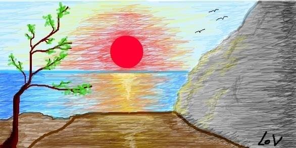 картинка про лето рисование