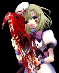 с кровью картинки аниме