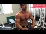 18yo natural bodybuilder posing - Tim Gabel flexing chest and back - KARL-ESS.COM