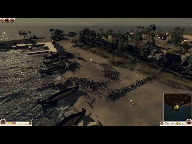 Total War: Rome II - Arverni vs Iceni Gameplay - Unfortified Port Assault by DiplexHeated