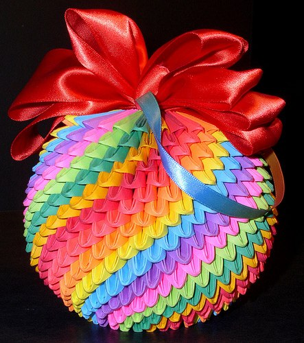 Модульное оригами. Ёлочная