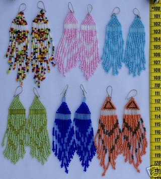 Не знаю, где найти схему плетения или мастер класс сережек из бисера с бахромой? :: украшения :: бисероплетение...