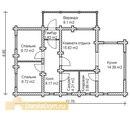 """Проект сруб дома Д-088  """" Экосруб Рыбинск деревянные дома из крупного бревна."""