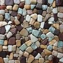 Как сделать мозаику из камней.